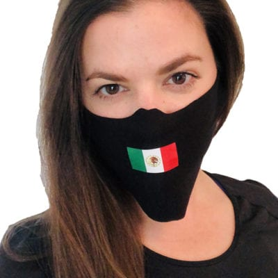 Mexican Flag Face Masks 5-pack